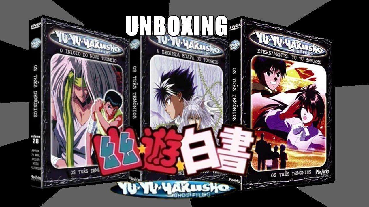 DVD Yu Yu Hakusho: Volumes - 28, 29 e 30 - UNBOXING - YouTube