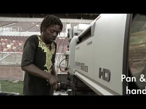 Camera Rig Before A Big Soccer Match. PSL Match TV Prep  Kaizer Chiefs Soweto Derby