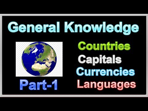 General Knowledge | Country-Capital-Currency-Language | Part-1