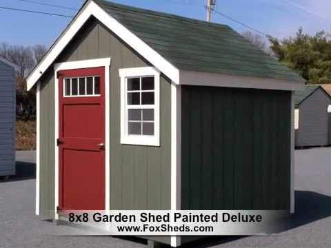 8x8 garden shed painted deluxe series - Garden Sheds 8x8