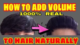 Add Heavy Volume to Hair Without Hair Dryer | How To Add Volume To Hair Men Without Hair Dryer |