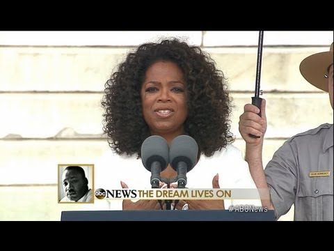"Oprah Winfrey March on Washington Speech: Winfrey Asks Washington ""How Will the Dream Live On?"""