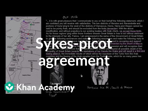 Sykes-Picot Agreement and the Balfour Declaration | The 20th century | World history | Khan Academy