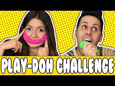 SCULTURE DEGLI YOUTUBER - Play Doh Challenge