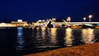 Развод Благовещенского моста в СПБ, 05.07.14