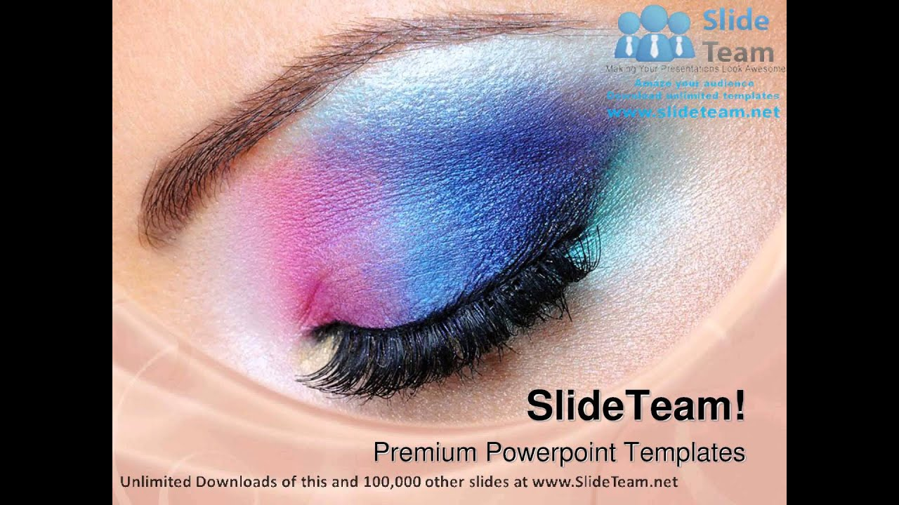 fashion makeup of eye beauty powerpoint templates themes