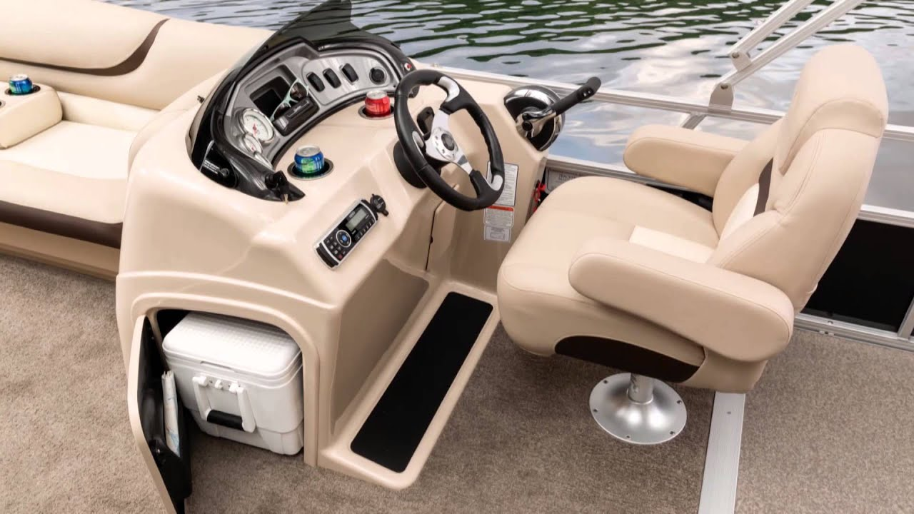 Sun tracker boats 2015 party barge 22 dlx and xp3 pontoon for Pontoon boat without motor for sale