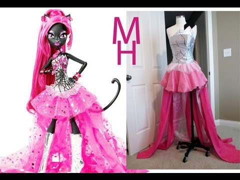 MONSTER HIGH CATTY NOIR COSTUME TUTORIAL - YouTube