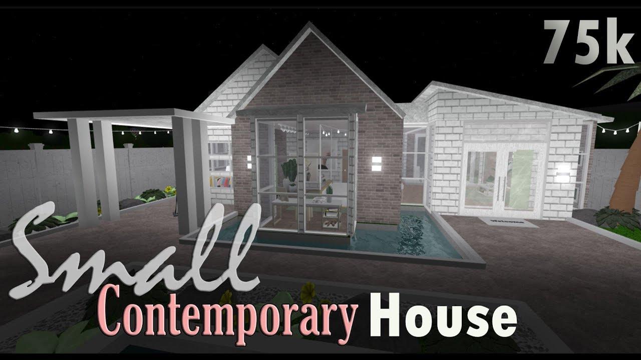 Bloxburg: Small Contemporary House 75k - YouTube