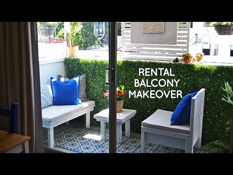 Diy Small Rental Balcony Makeover For Outdoor Living Youtube