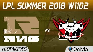 RNG vs JDG Highlights Game 1 LPL Summer 2018 W11D2 Royal Never Give Up vs JD Gaming by Onivia