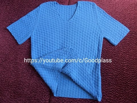 Мужская футболка вязаная спицами
