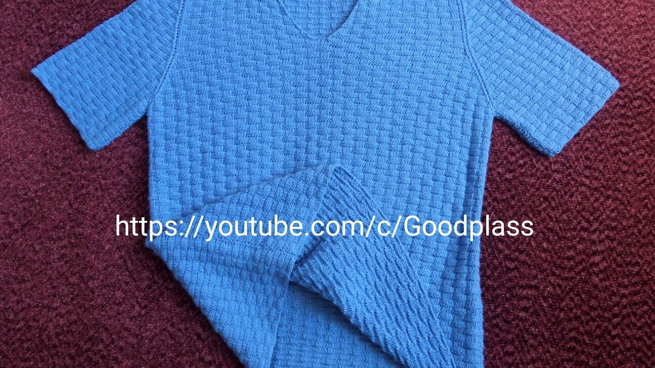 мужская футболка вязание спинки вязание спицами часть 1 Youtube