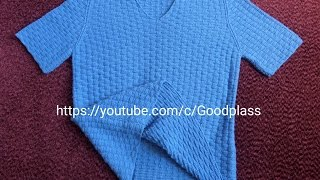 Мужская футболка. Вязание спинки.  Вязание спицами. Часть 1
