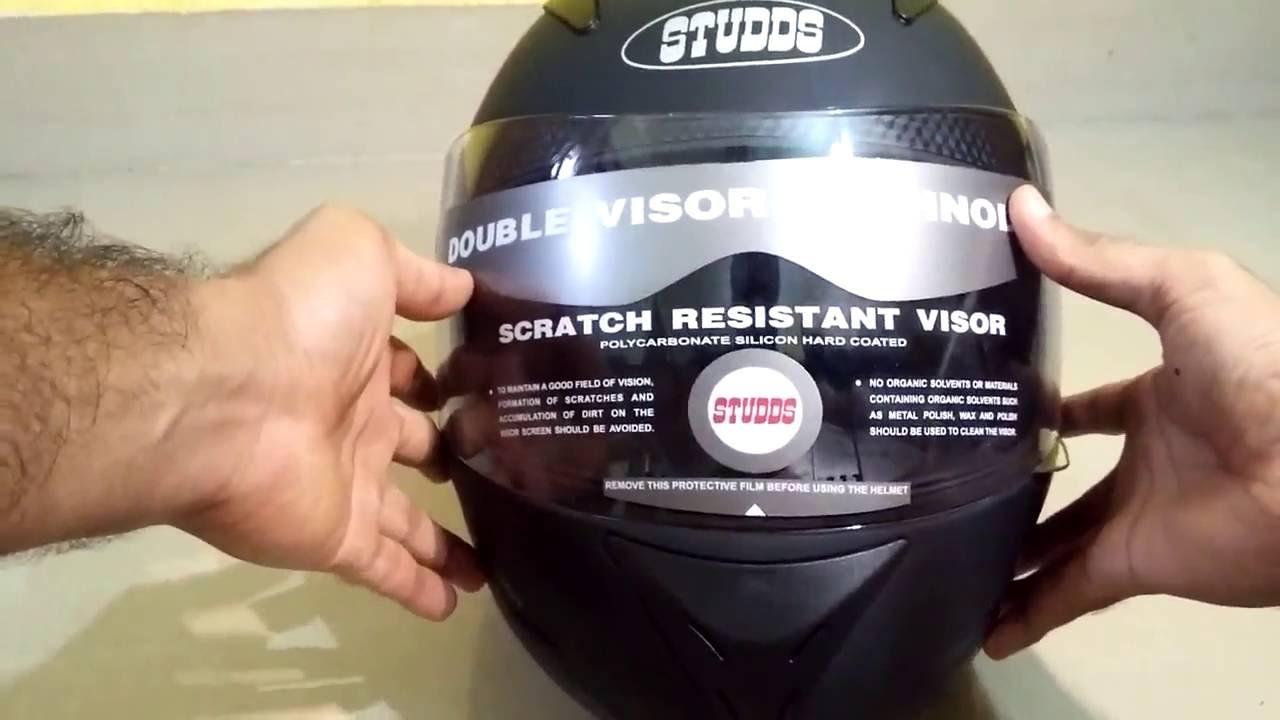 Studds Shifter Helmet Review Youtube: Studds Shifter Full Face Helmet Matt Black, ISI Approved