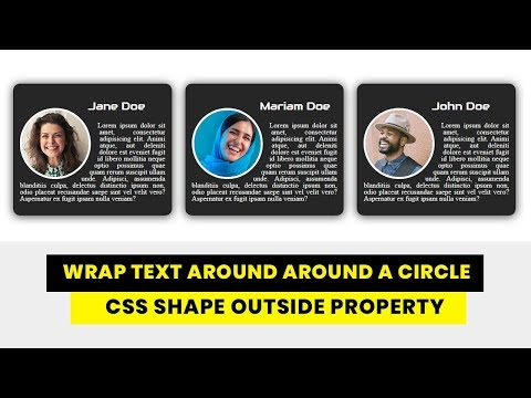 How to Wrap Text Around a Circle with CSS | CSS Shape outside Property