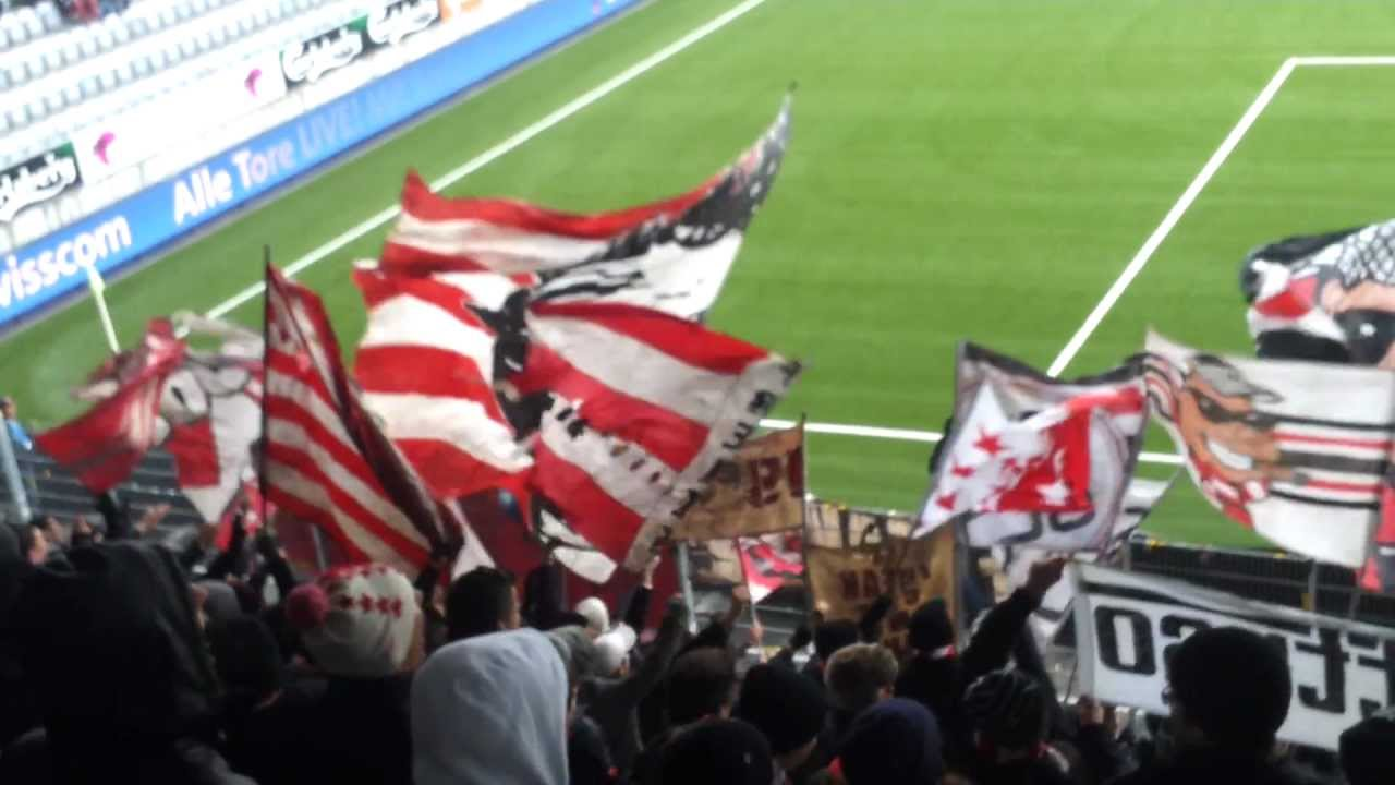 Fc Thoune Fc Sion Ultras Sion 24 02 2013 Youtube