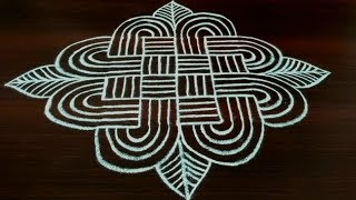 Padi kolam with 5x5 dots    easy geethala muggulu designs (dhanurmasam muggulu)    Chukki Rangoli