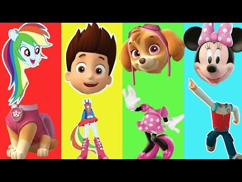 Wrong Heads Paw Patrol Ryder Skye Dreamworks My Little Pony Rainbow Dash Mickey Mouse Finger Family