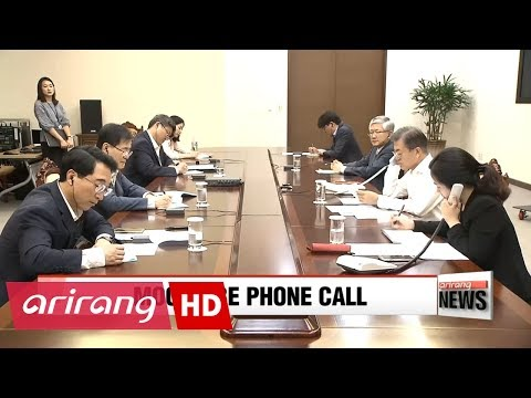 President Moon and Japanese Prime Minister Abe reaffirm solidarity during phone conversation