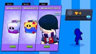 Opening BRAWLIDAYS GIFTS on 0 Trophy Account - Brawl Stars