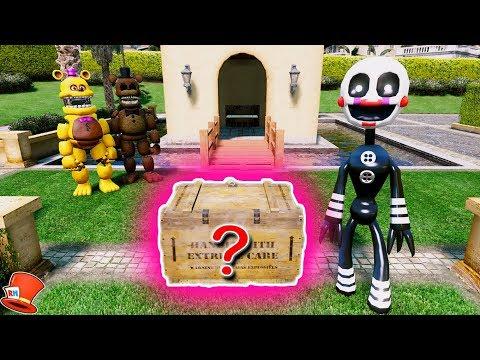 GUESS WHAT'S IN THE SECRET FNAF BOX! (GTA 5 Mods For Kids FNAF RedHatter)