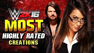 WWE 2K16 Top 10 Highest Rated CAWS
