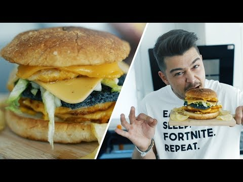 Mein DOUBLE CHICKEN CHEESE BURGER!🍔 | Selfmade
