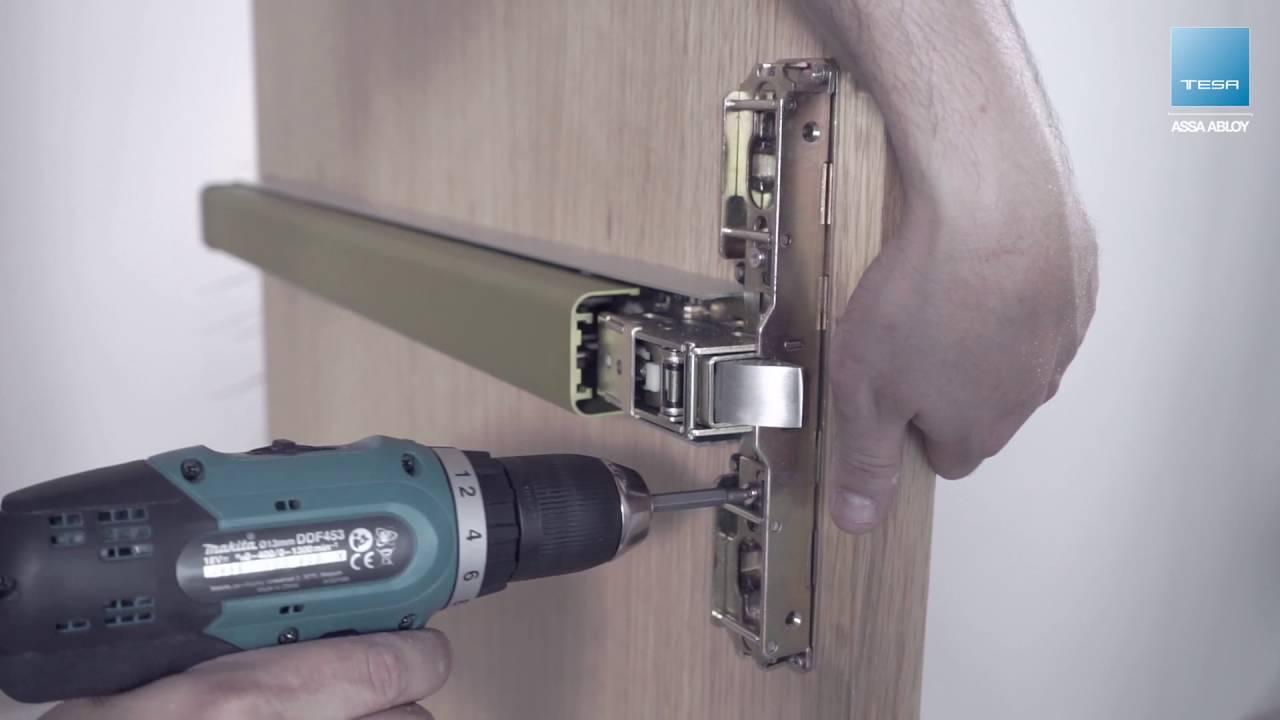 Three Locking Point Top Panic Exit Device Installation