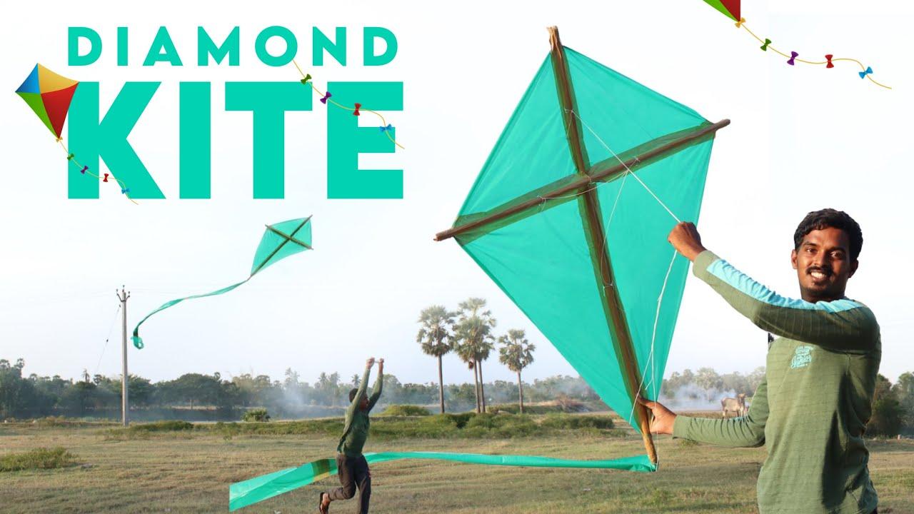 WOW ! இப்படி ஒரு பட்டம் இருக்கா | Biggest Diamond Kite Making | Giant Dimond Kite Making