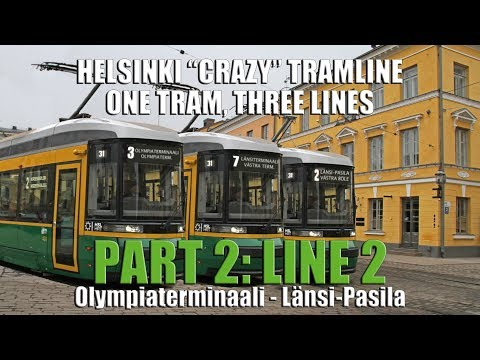 "Helsinki ""Crazy"" Tramline. One tram, Three lines. Part 2, Line 2"