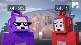 Tinky-Winky destroys Po with a MAFIA BOSS hut (Minecraft machinima)
