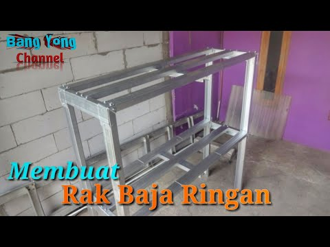 Tutorial Membuat Rak Dari Baja Ringan Murah Youtube