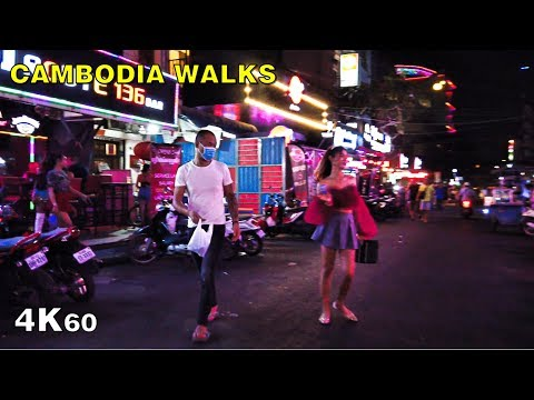 Phnom Penh Red Light District Night Walk [4K Cambodia Nightlife]