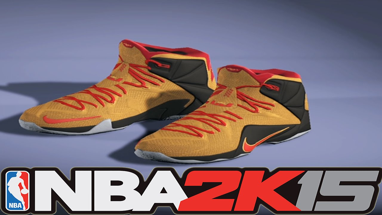 77acf60f874 NBA2K15 Next Gen Shoes - Nike LeBron 12 Witness - YouTube