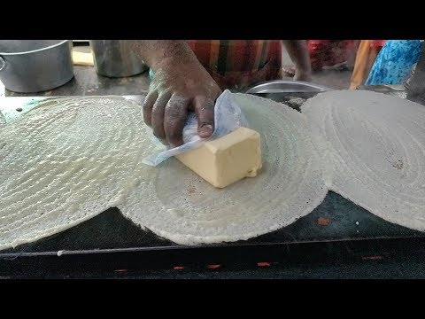 BIG BUTTER Dosa | INCREDIBLE Dosa Making Skills | Indian Street food
