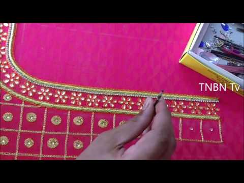Simple Maggam Work Blouse Designs Embroidery Beginners Stitches Aari Work Blouse Designs Tutorial Youtube,Simple Home Furniture Design Hall