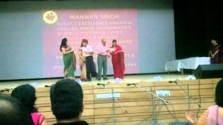 Mannan getting academic awards - The Shri Ram School Aravali 10th July 2013