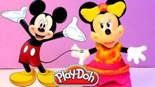 Minnie Mouse Play Doh Dress Gown Prom Dress Mickey Mouse Clubhouse Disney Junior Toys Review