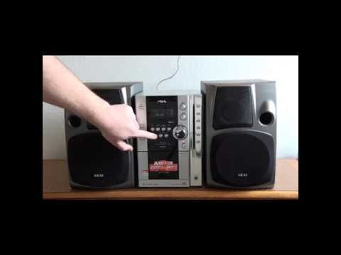 AIWA XR-MN5 MP3 STEREO & AKAI HÖGTALARE
