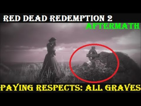 RDR2 Aftermath: Paying Respects | Visiting ALL Graves (All Cutscenes)