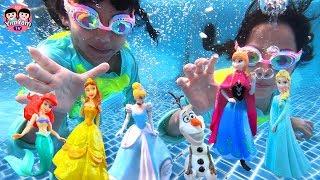 หนูยิ้มหนูแย้ม   ดำน้ำช่วยเจ้าหญิง Disney Princess