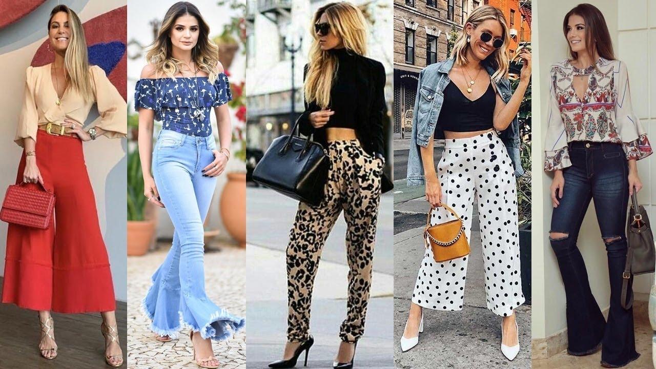 Pantalones Que Estan En Tendencia 2019 2020 Looks Con Pantalones De Moda Y Tendencia Youtube