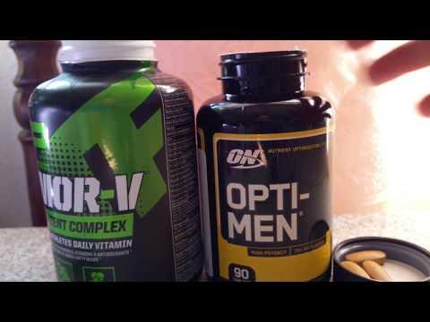 MusclePharm Armor V Versus Optimum Nutrition Opti-Men Vitamin