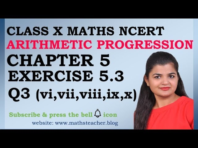 Chapter 5 Arithmetic Progression Ex 5.3 Q3(vi to x) class 10 Maths