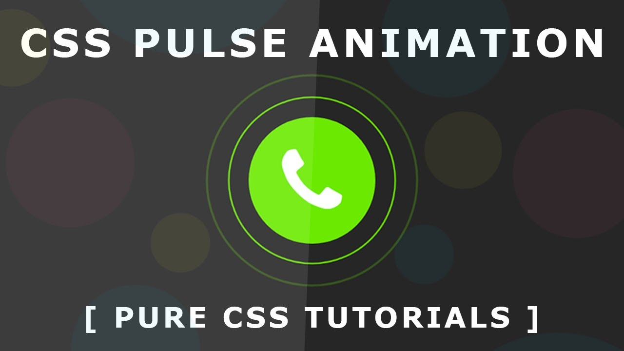 Awesome CSS3 Pulse Effect - Pulsing effect using CSS3 Transform Scale -  Pure CSS Animation Tutorial