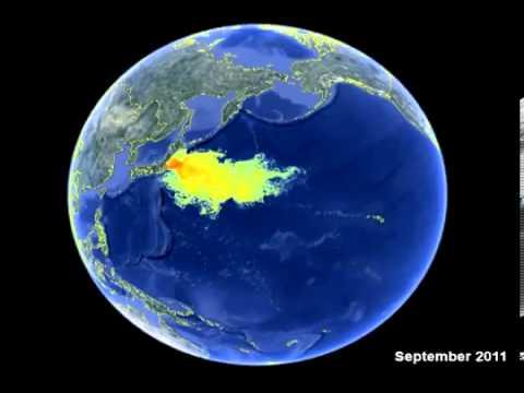 日本: Fukushima Radioactive Ocean Impact Map