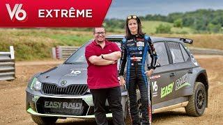 Alexsmolik essaie une Skoda Fabia R5 avec Margot Laffite - Les essais extrêmes de V6