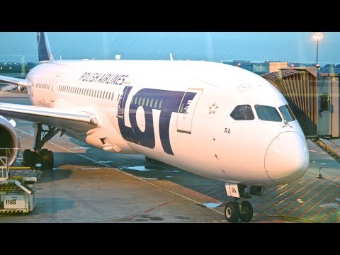 LOT POLISH AIRLINES B787-8 PREMIUM ECONOMY CLASS TO NEW YORK   Best and cheapest in Europe!
