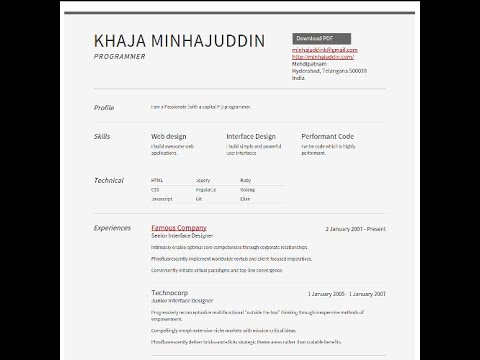 how to create a resume using middleman zammu and github pages